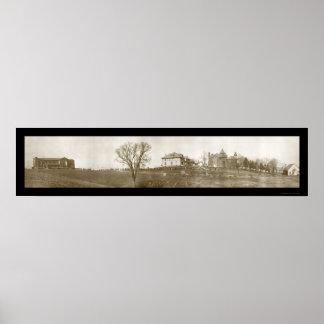 New Concord Muskingum Photo 1914 Poster