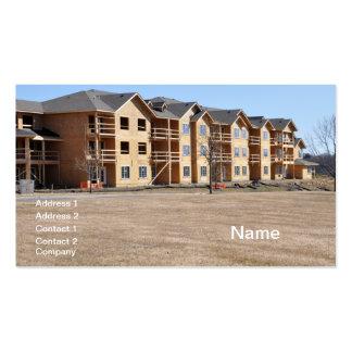 new condominium building under construction business card template