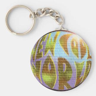 New Cool World LOGO Basic Round Button Keychain