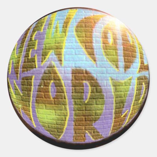 New Cool World LOGO Classic Round Sticker