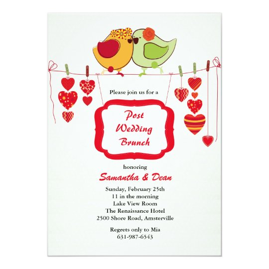 New Couple - Post Wedding Brunch Invitation