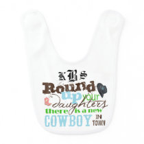 New Cowboy Personalize Bib