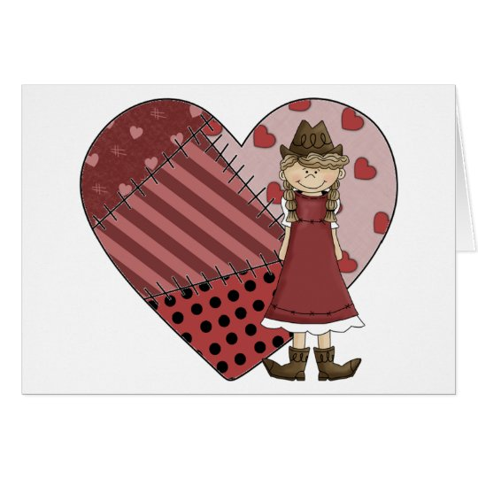 New Cowgirl Boots & Heart - Country Western Blank Card