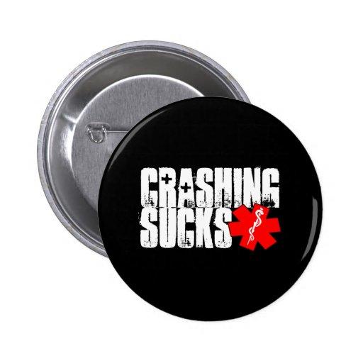 New Crashing Sucks Black Button