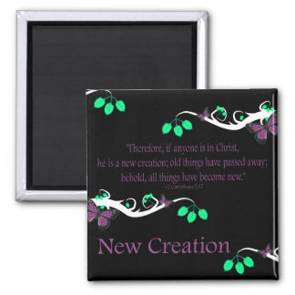 New Creation 2 Inch Square Magnet