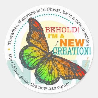 New Creation Butterfly Sticker