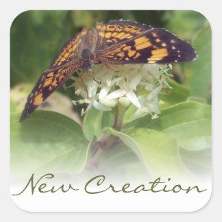 New Creation Square Sticker