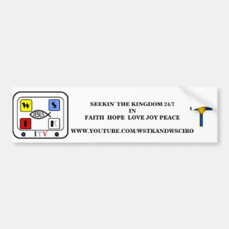 New Creation White Bumper Stickers - Customized