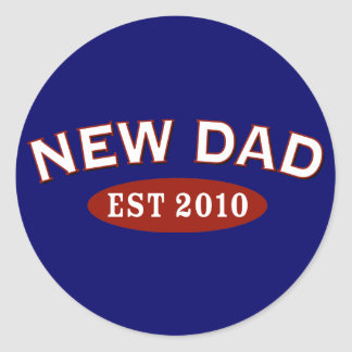 New Dad 2010 Classic Round Sticker