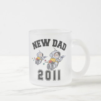 New Dad 2011 Frosted Glass Coffee Mug