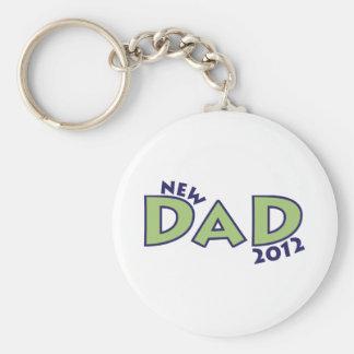 New Dad 2012 Basic Round Button Keychain