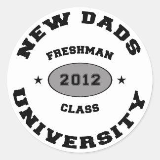 New Dad 2012 Classic Round Sticker