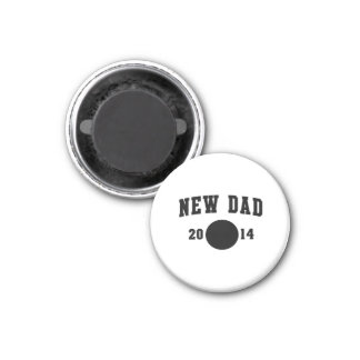 New Dad 2014 1 Inch Round Magnet