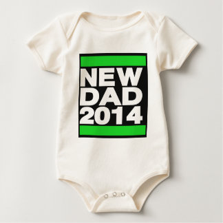 New Dad 2014 Green Baby Bodysuit