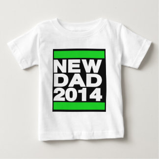 New Dad 2014 Green Baby T-Shirt