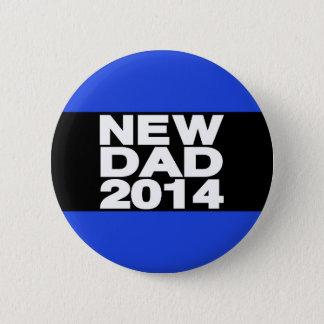 New Dad 2014 Lg Blue Pinback Button