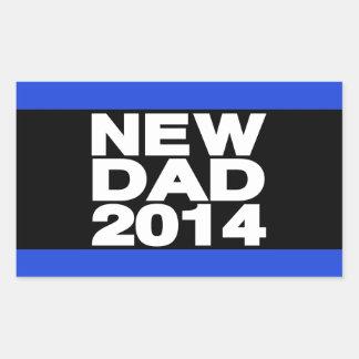 New Dad 2014 Lg Blue Rectangular Sticker