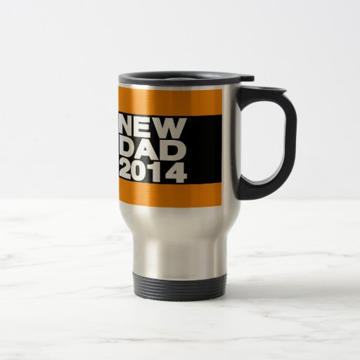 New Dad 2014 Lg Orange Coffee Mug