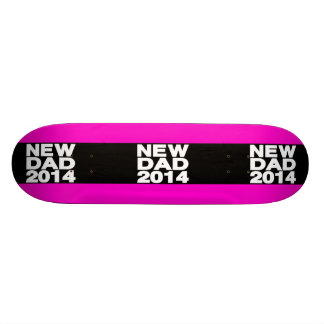 New Dad 2014 Lg Pink Skate Board Deck