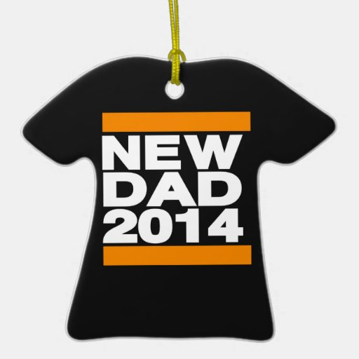 New Dad 2014 Orange Ornament