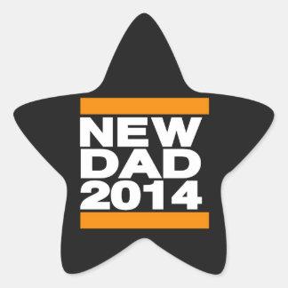 New Dad 2014 Orange Star Sticker