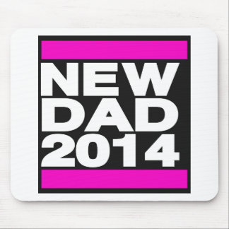 New Dad 2014 Pink Mouse Pad