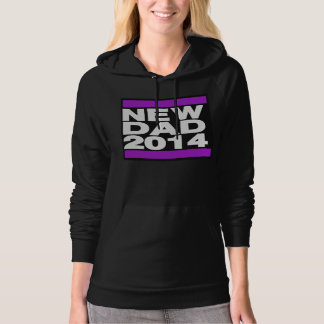 New Dad 2014 Purple Hoodie
