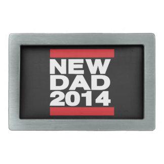 New Dad 2014 Red Rectangular Belt Buckle