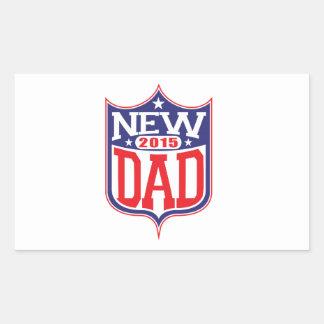 New Dad 2015 Rectangular Sticker