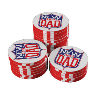 New Dad 2015 Set Of Poker Chips