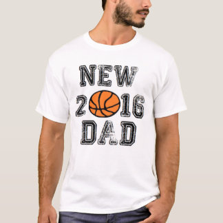 NEW DAD 2016 BASKETBALL FATHER BABY DADDY T-Shirt