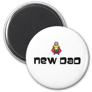 New Dad 2 Inch Round Magnet