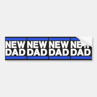 New Dad Blue Bumper Stickers