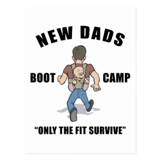 New Dad Boot Camp Postcard