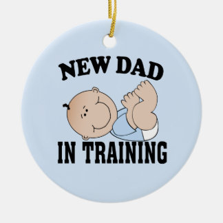 New Dad Boy Christmas Tree Ornaments