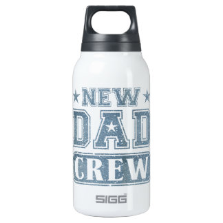 New Dad Crew Denim Texture Insulated Water Bottle