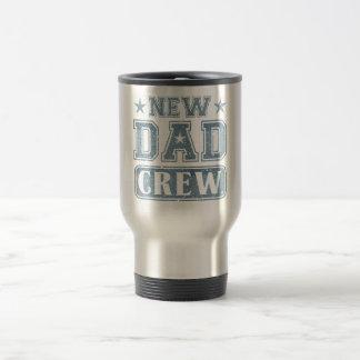 New Dad Crew Denim Texture 15 Oz Stainless Steel Travel Mug