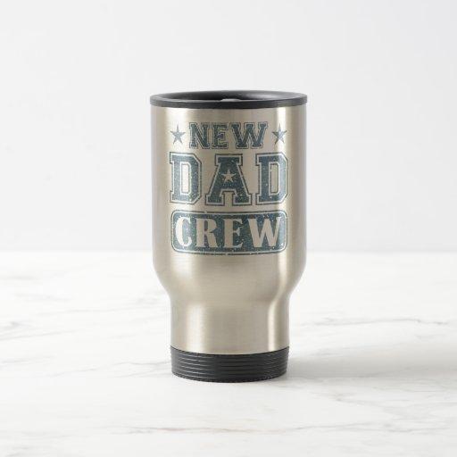 New Dad Crew Denim Texture Coffee Mugs
