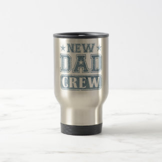 New Dad Crew Denim Texture Travel Mug