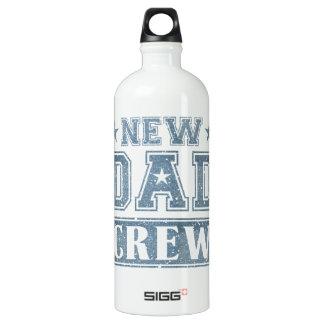 New Dad Crew Denim Texture Water Bottle