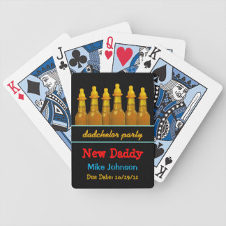 New Dad Dadchelor Party Personalized Playing Cards