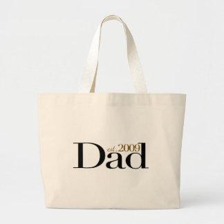 New Dad Est 2009 Large Tote Bag