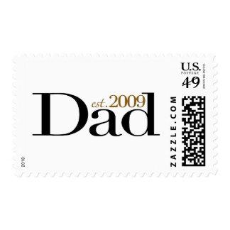 New Dad Est 2009 Stamp