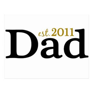New Dad est 2011 Postcard
