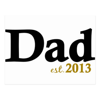 New Dad Est 2013 Postcard