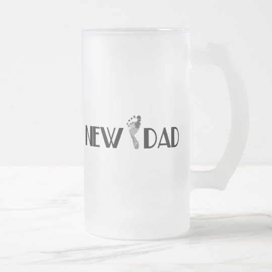 New Dad Frosted Glass Beer Mug