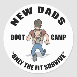 New Dad Gift Classic Round Sticker