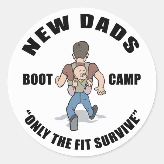 New Dad Gift Classic Round Sticker