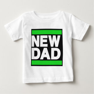 New Dad Green Baby T-Shirt