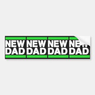 New Dad Green Bumper Sticker
